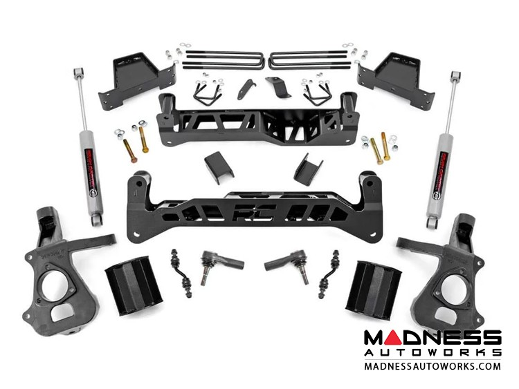 "Chevy Silverado 1500 2WD Suspension Lift Kit w/ N3 Shocks - 7.5"" Lift - Cast Steel"